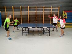 Una de las imágenes que deja esta jornada del tenis de mesa soriano.