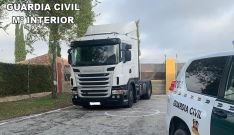 El vehículo recuperado por la GC. /GC
