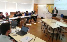 Una imagen de la ponencia en Lisboa. /FS