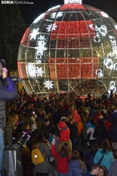 Una imagen de la apertura del tiempo navideño este viernes. /SN