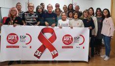 Miembros de la Federación de servicios públicos del sindicato en Soria.