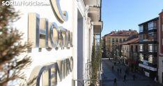Un establecimiento hotelero en la plaza de Mariano Granados. /SN