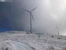 Foto 2 - La nieve en Oncala presagia el temporal