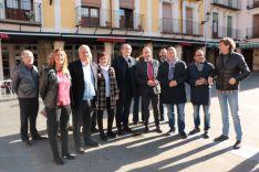 Visita de Ángel Gabilondo, portavoz socialista de la Asamblea de Madrid, ha visitado la comarca de El Burgo de Osma. PSOE