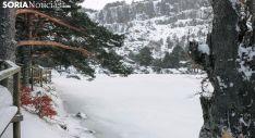 Una imagen invernal de la Laguna Negra. /SN