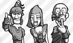Algunos personajes de Numanguerrix. /Numanguerrix