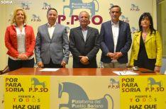 Los candidatos para el 10-N de la PPSO: Ascensión Pérez (izda.), Adolfo Sainz, José Antonio de Miguel, Antonio Pardo y María Isabel Bartolomé. /SN