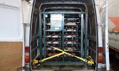 Las piezas incautadas en la furgoneta en la que eran transportadas. /GC
