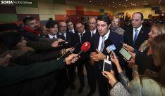 El consejero, ante los medios informativos este miércoles en El Burgo de Osma. /SN