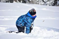 Primer día de nieve en Santa Inés.