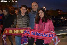 Aficiones del Numancia y el Rayo Vallecano.