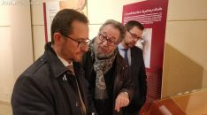 Bueno en su visita al Archivo Histórico Provincial de Soria.