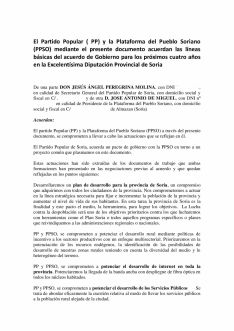 Foto 4 - Serrano publica el acuerdo PP-PPSO… obviando a los temas candentes