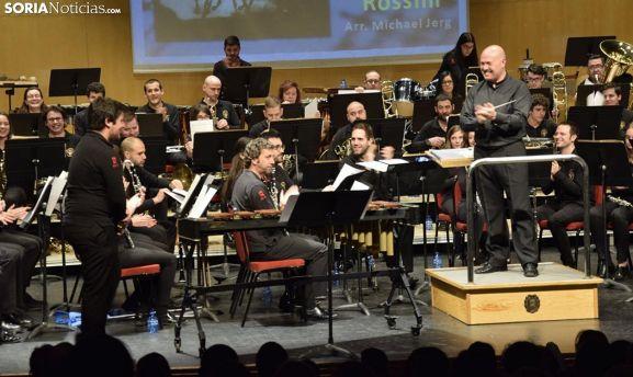 Una actuación de la Banda en La Audiencia.