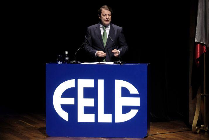 Fernández Mañueco clausuró la noche de ayer la Gala del Día de la Empresa organizada por FELE, donde se ha hecho entrega de los Premios Empresario del Año 2019.Junta de Castilla y León