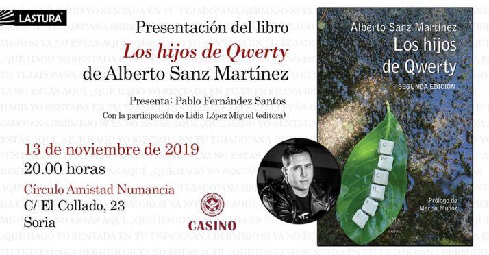Foto 1 - En el Casino, presentación del libro 'Los hijos de Qwerty', de Alberto Sanz, este miércoles