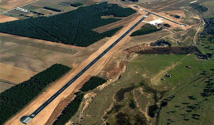 Vista del aeródrimo de Garray.