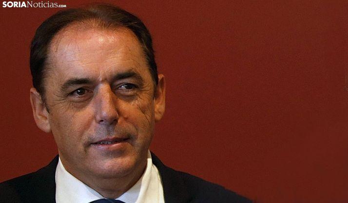 El presidente de la Diputación, hoy miércoles en El Burgo. /SN