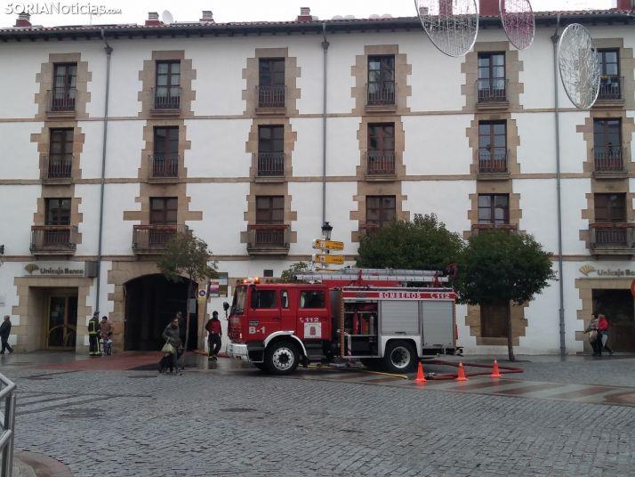 Una imagen del exterior del edificio este martes. /SN