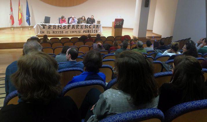 Una asamblea de CGT Soria el pasado abril.