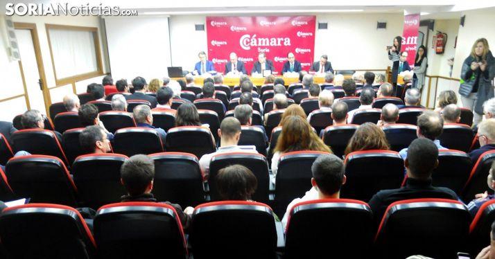 Salón de actos de la Cámara de Soria. /SN