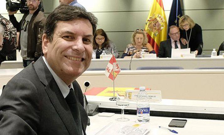 El consejero de Economía y Hacienda, Carlos Fdez. Carriedo