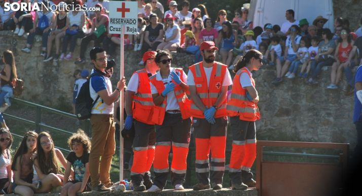 Voluntarios de Cruz Roja Soria en una imagen de archivo. /SN