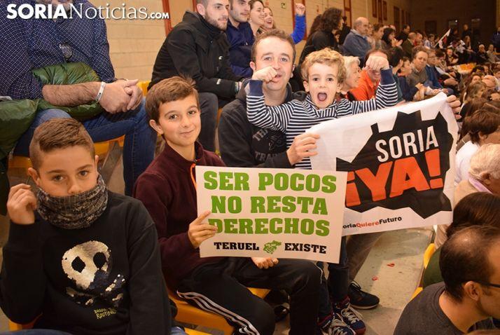 Río Duero no puede con Teruel en un partido de apoyo a Soria Ya y a la España Vaciada