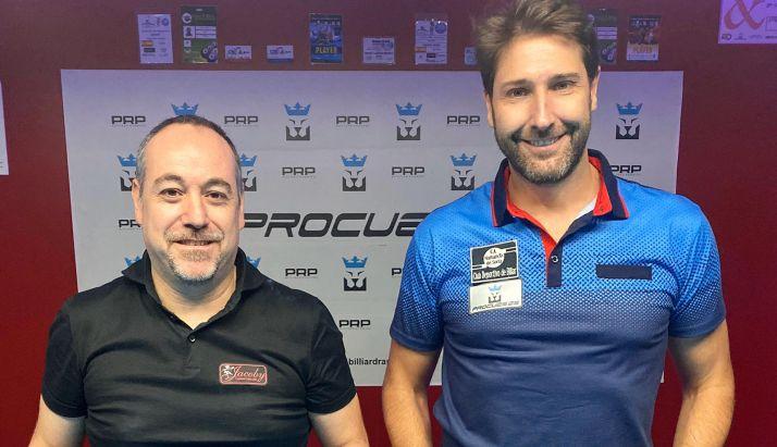 Del Santo, (izda.), junto al ganador del torneo, Daniel Márquez.