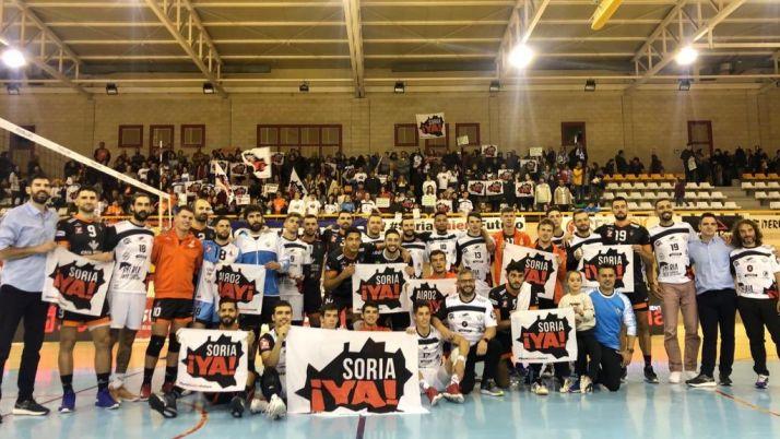 Foto 2 - Río Duero no puede con Teruel en un partido de apoyo a Soria Ya y a la España Vaciada