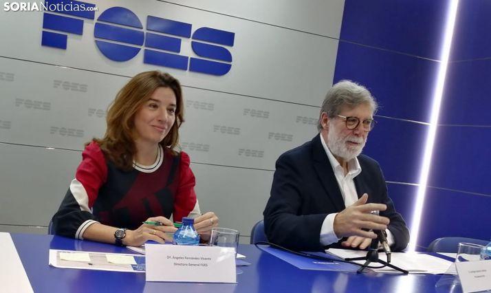 María Ángeles Fernández y Santiago Aparicio este viernes. /SN