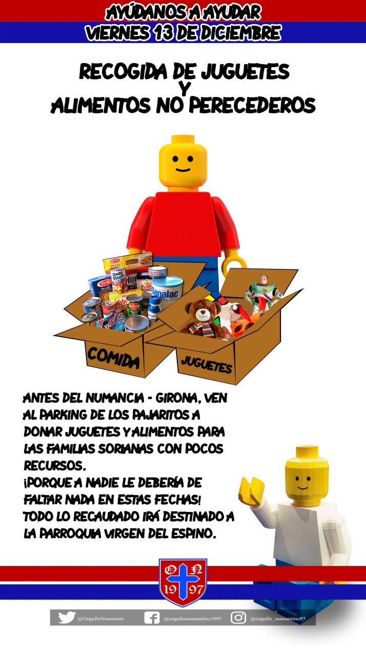 Foto 2 - Orgullo Numantino recoge juguetes y alimentos antes de Navidad