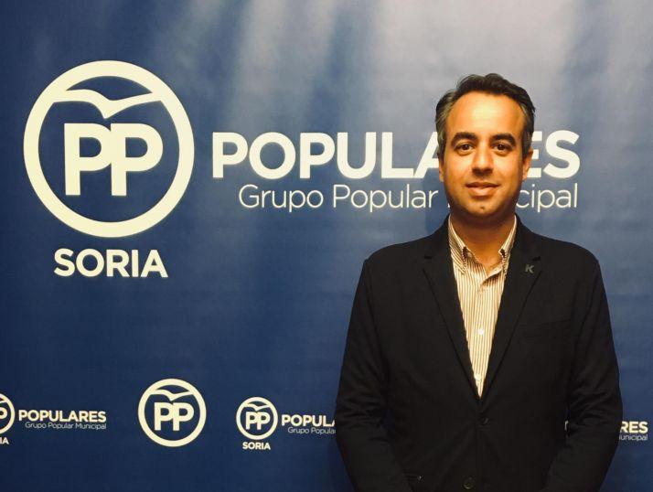 Ignacio Soria, portavoz del PP en el Ayuntamiento de Soria. PP de Soria