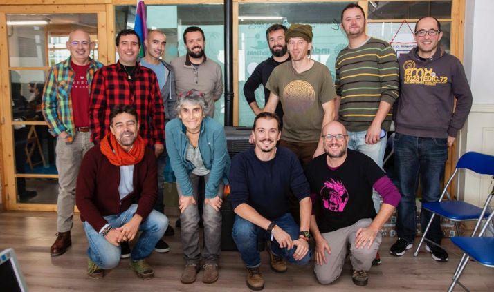 Participantes de los distintos colectivos LGTBI en Presura.
