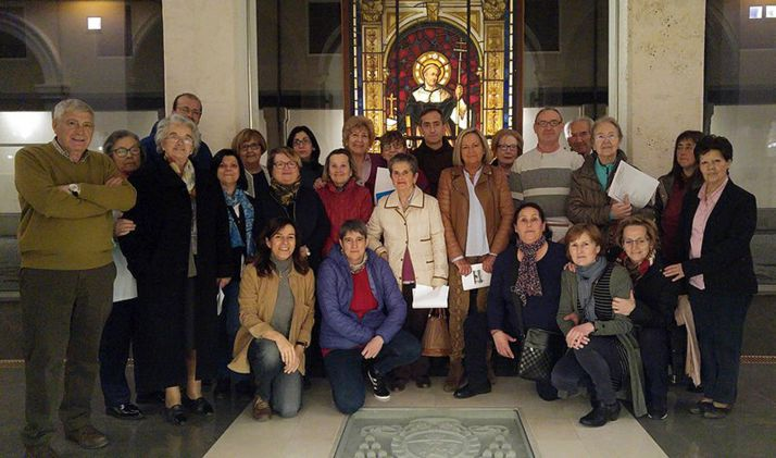 Grupo de laicos de la diócesis en unos ejercicios espirituales. /DOS