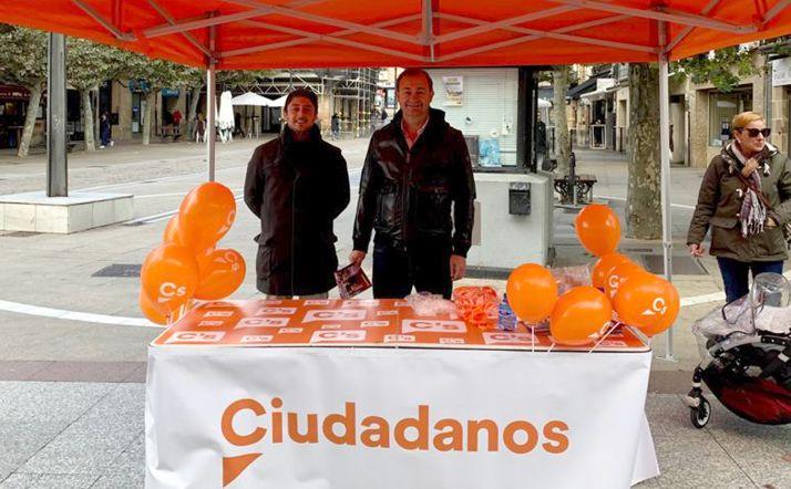 García (izda.) y Leal, este jueves en El Collado.