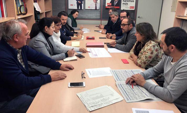 Reunión de la Ejecutiva del PSOE soriano este miércoles.