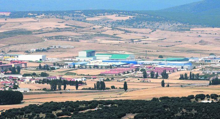 Imagen del polígono industrial Emilano Revilla, en Ólvega.