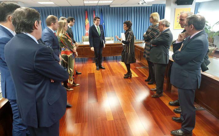 Imagen de la reunión entre ambas administraciones este martes. /Jta.
