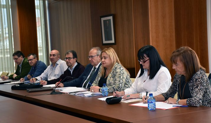 El Consejo de Salud de Área en su reunión de este viernes. /SN