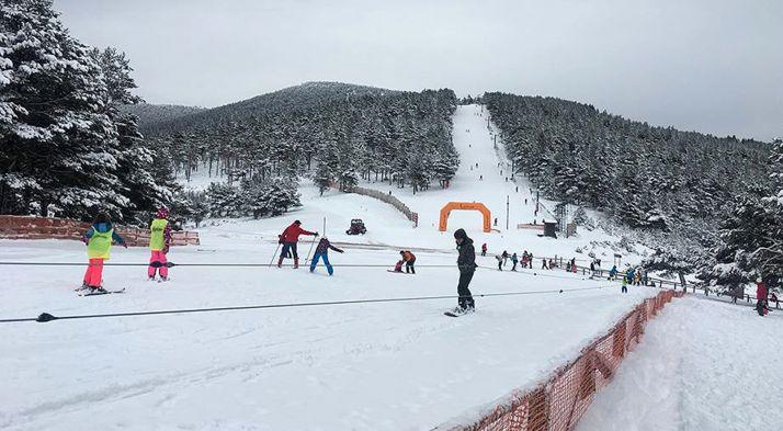 Imagen del punto de nieve de Santa Inés este noviembre. /PNSI