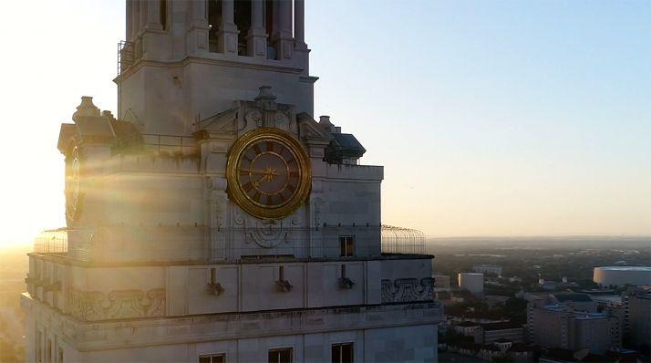 Una imagen del edificio más emblemático de la Universidad de Texas, en la ciudad de Austin.
