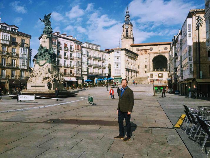 Alberto Gómez en Vitoria.