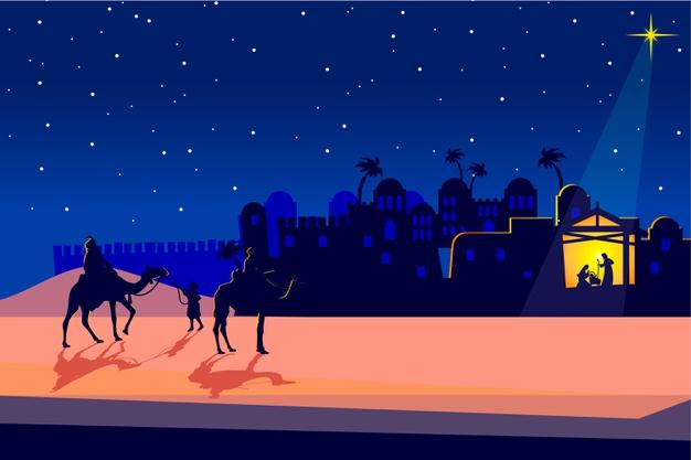 Los Reyes Magos, camino a Belén.