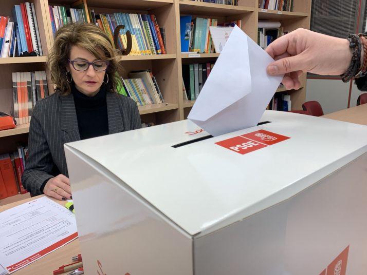 Foto 2 - La militancia soriana del PSOE vota para apoyar el acuerdo de Gobierno de coalición con Unidas Podemos