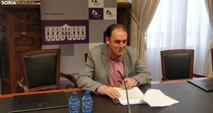 Serrano, hoy, en rueda de prensa. SG