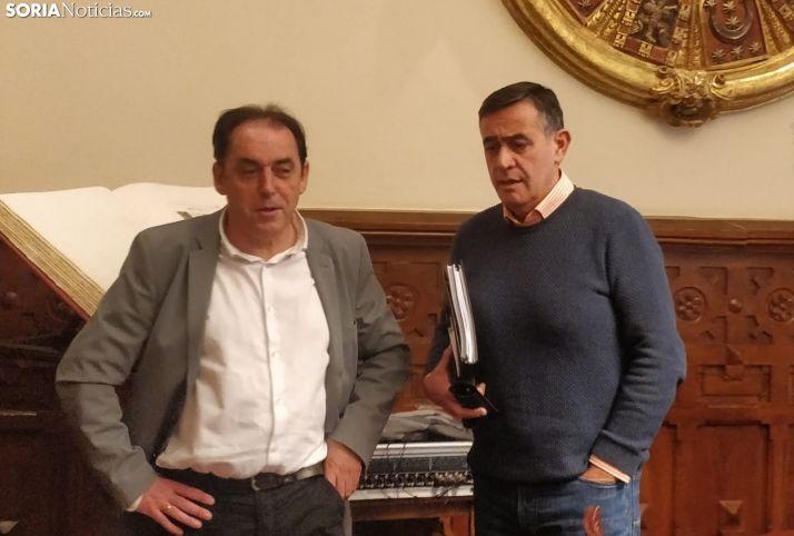 Serrano y Pardo en la Junta de Gobierno de hoy. SN