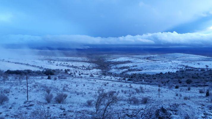 La nieve hace su presencia en Soria