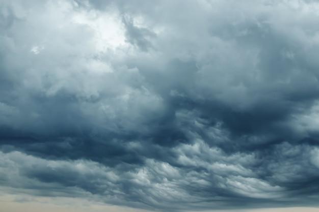 Sensación de tormenta en el cielo.