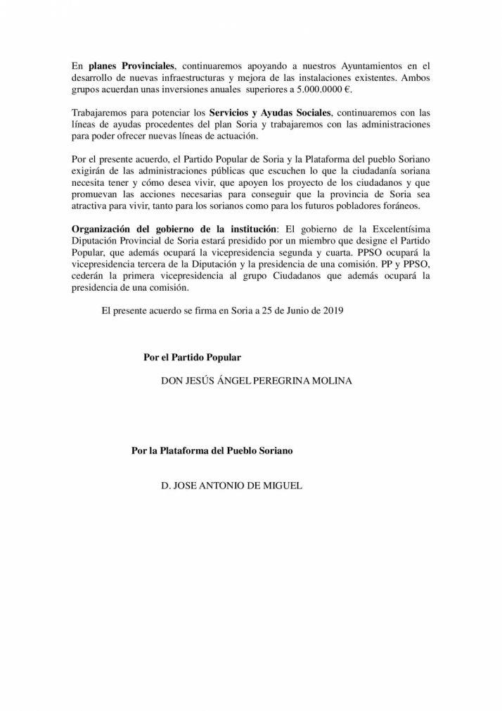 Foto 2 - Serrano publica el acuerdo PP-PPSO… obviando a los temas candentes